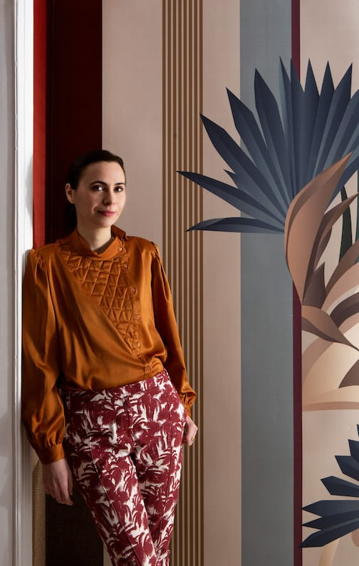 Esotismi - kolekcja jedwabnych tapet marki Misha - Christina Celestino