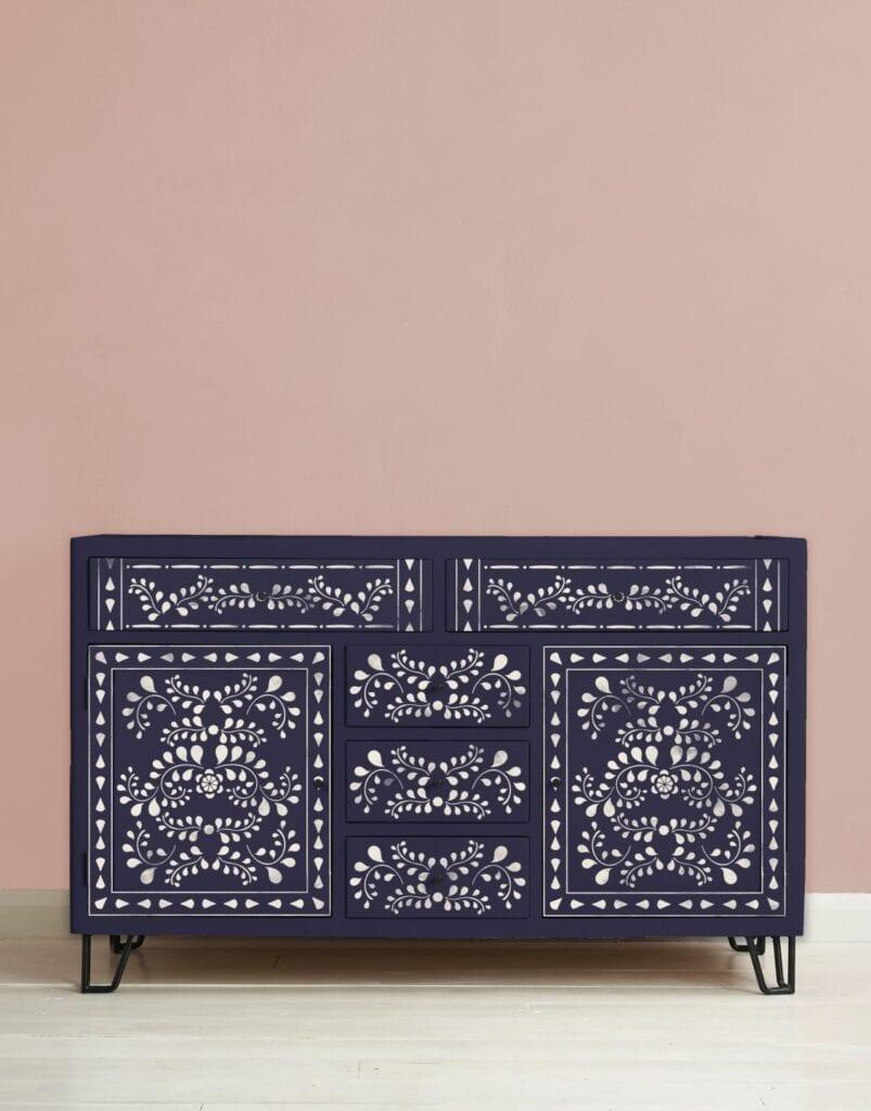 Faux Bone Inlay - orientalne szablony od Annie Sloan