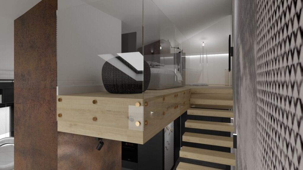 Mieszkanie z użytkowym poddaszem projektu pracowni PO.MYSŁ