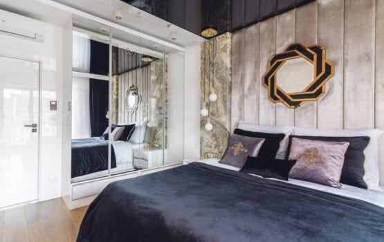 Apartament w stylu glamour projektu pracowni ARTE DIZAIN