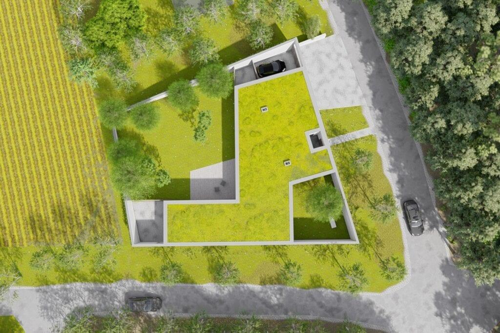 Dom na skrzyżowaniu projektu Toprojekt