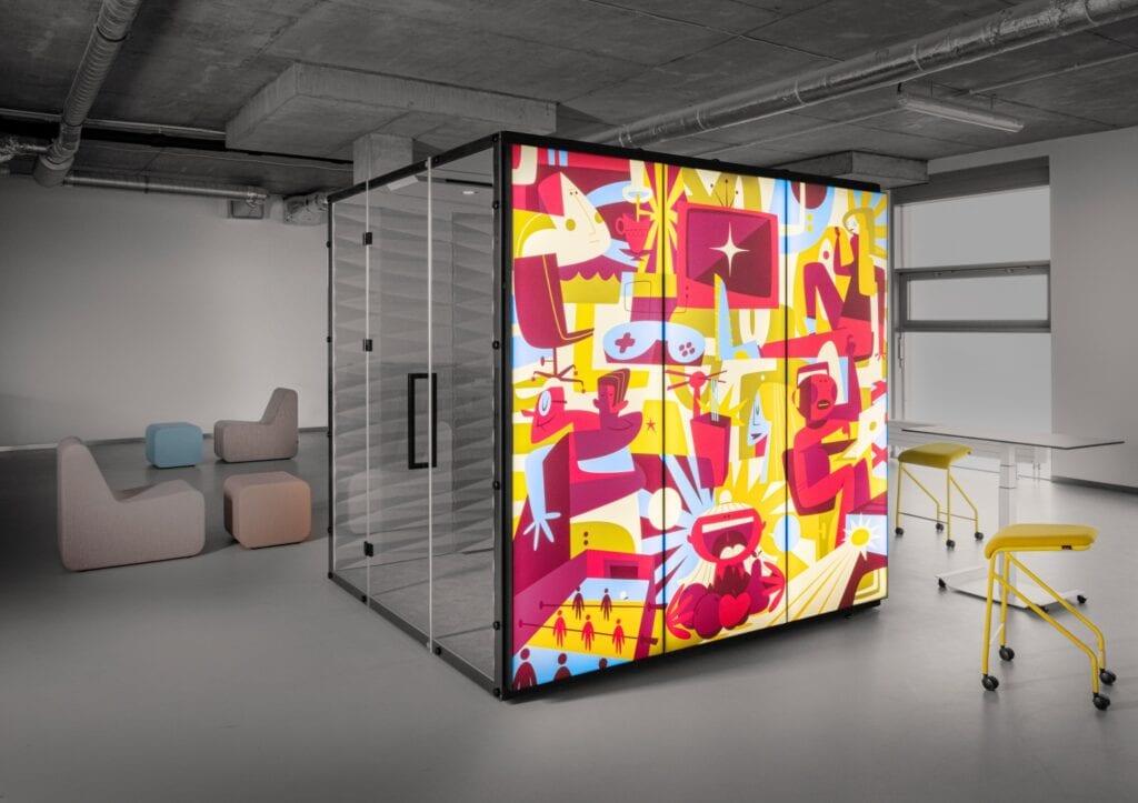 VANK WALL_GRAPHIC_LIGHT, czyli boksy graficzne z akcentem LED - grafika Igor Chołda / Aqualoopa