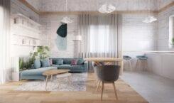 Wnętrza domu w Bukowcu projektu Marty Piórkowskiej i Filipa Zamiatnina