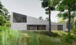 Dom z wapienia – projekt pracowni Toprojekt u podnóża Gór…