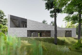 Dom z wapienia – projekt pracowni Toprojekt u podnóża Gór Sokolich