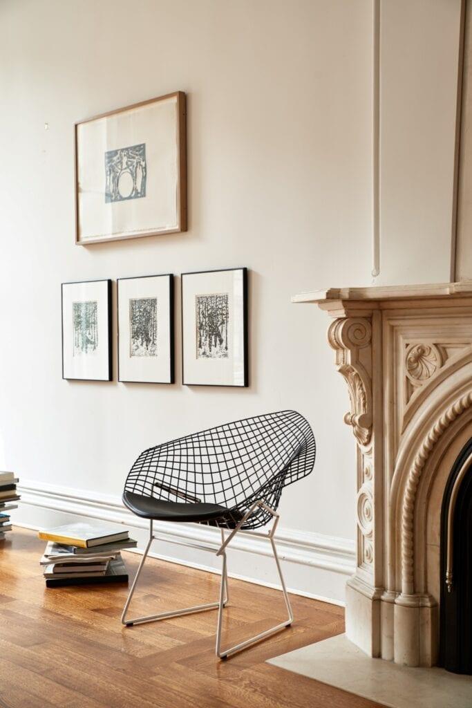 Meble ażurowe - przykłady, pomysły i inspiracje - Bertoia Diamond Chair