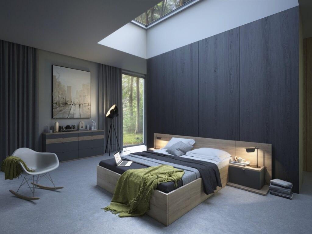 Nasz domowy azyl - urządzamy małą sypialnię z marką Komandor - Łóżko Nine Duo