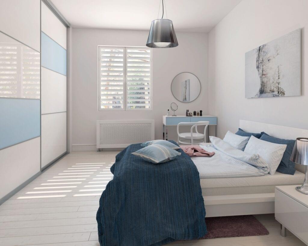 Nasz domowy azyl - urządzamy małą sypialnię z marką Komandor - sypialnia z szafą na wymiar