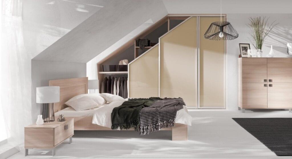 Nasz domowy azyl - urządzamy małą sypialnię z marką Komandor - Szafa w systemie Lazuryt