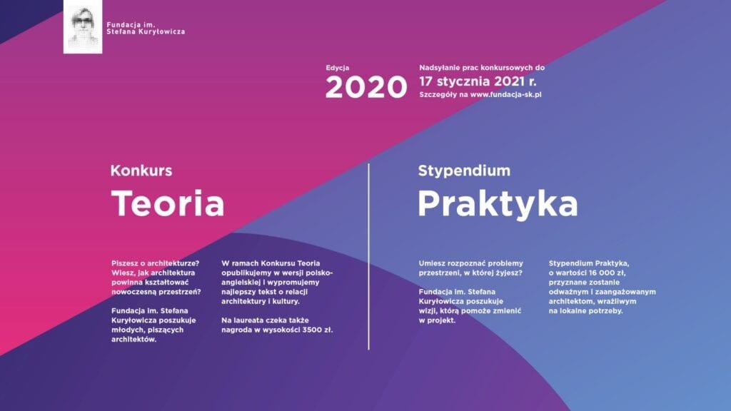 Nowa edycja konkursów fundacji im. Stefana Kuryłowicza - Konkurs TEORIA oraz Stypendium PRAKTYKA 2020