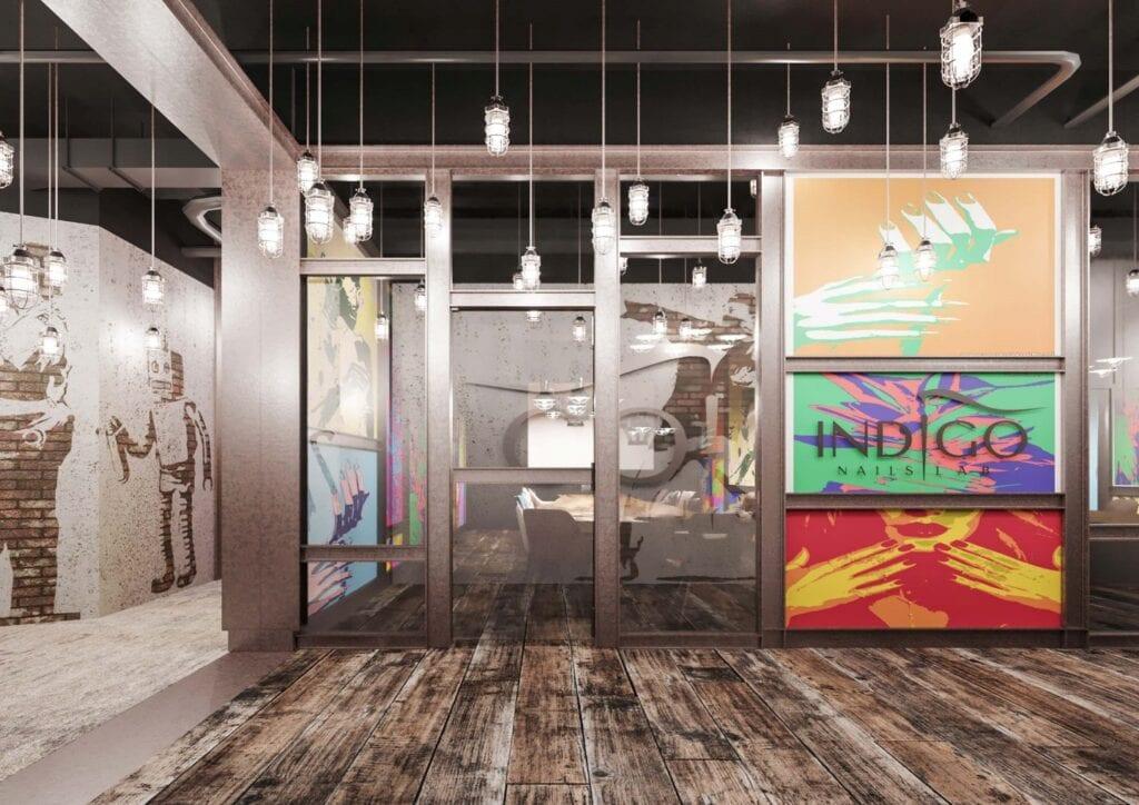 Bezkompromisowy projekt wnętrz INDIGO NAILS projektu REFORM Architekt - Marcin Tomaszewski - Call Center