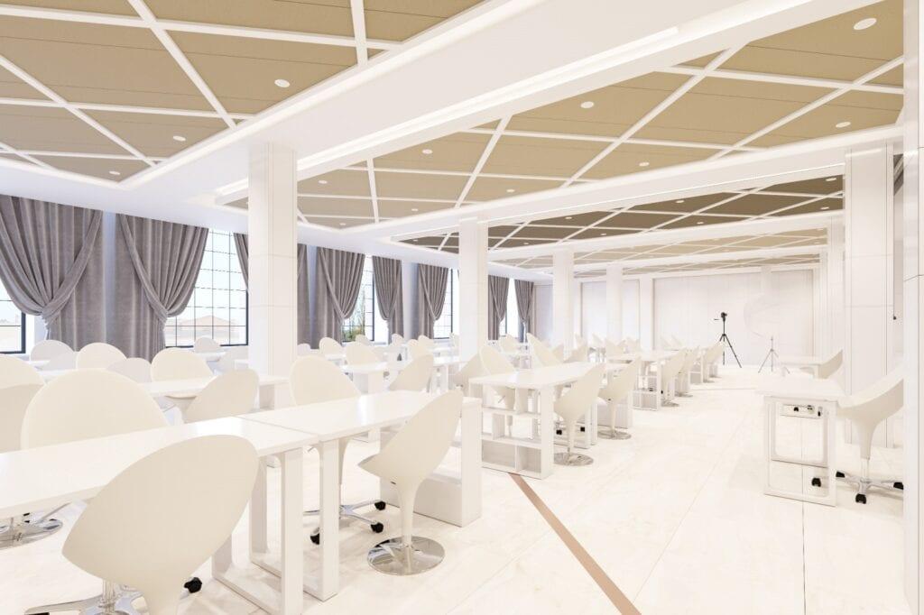 Bezkompromisowy projekt wnętrz INDIGO NAILS projektu REFORM Architekt - Marcin Tomaszewski - Sala Szkoleniowa