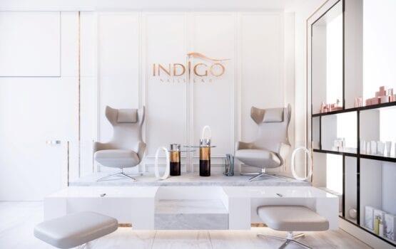 Bezkompromisowy projekt wnętrz INDIGO NAILS projektu REFORM Architekt