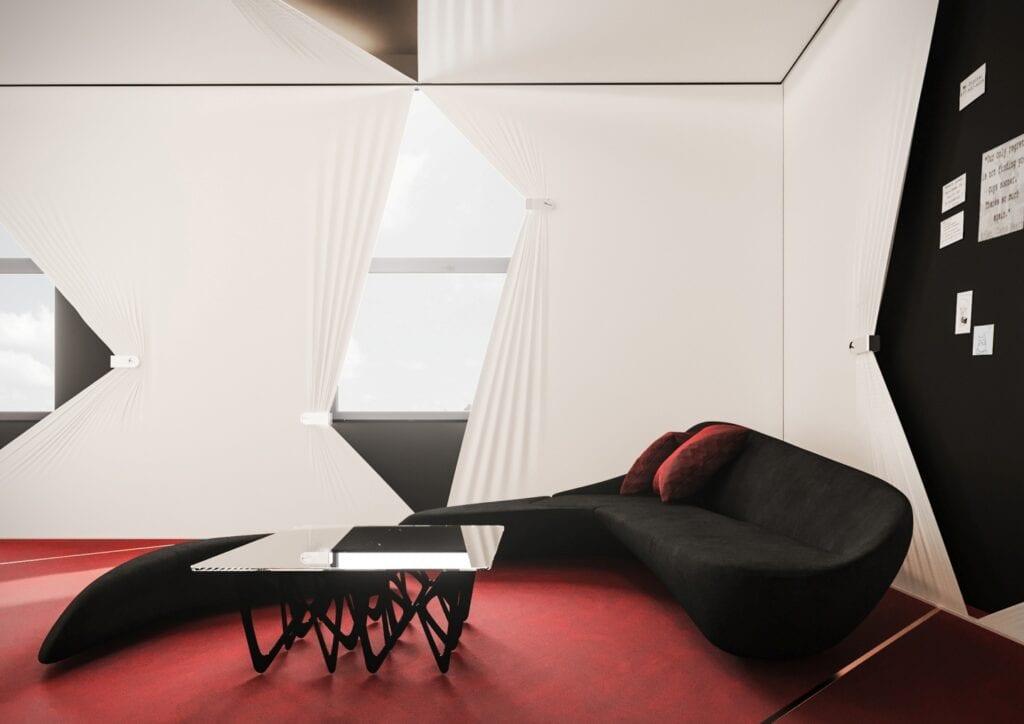 Bezkompromisowy projekt wnętrz INDIGO NAILS projektu REFORM Architekt - Marcin Tomaszewski - Gabinet szefowej