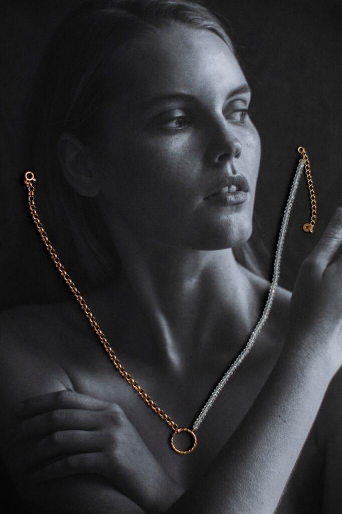 GROOVY - wyjątkowa biżuteria od Joanny Mach i Doroty Staniec - Naszyjnik Blue Velvet Crystal, GROOVY