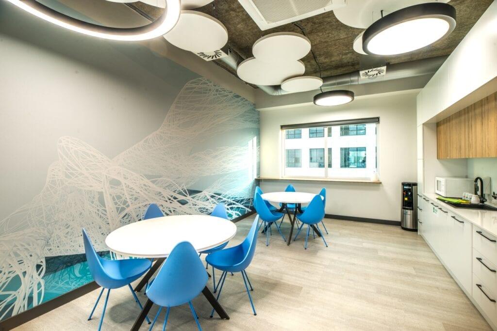 Modernizacja wnętrz Santander Data Center we Wrocławiu