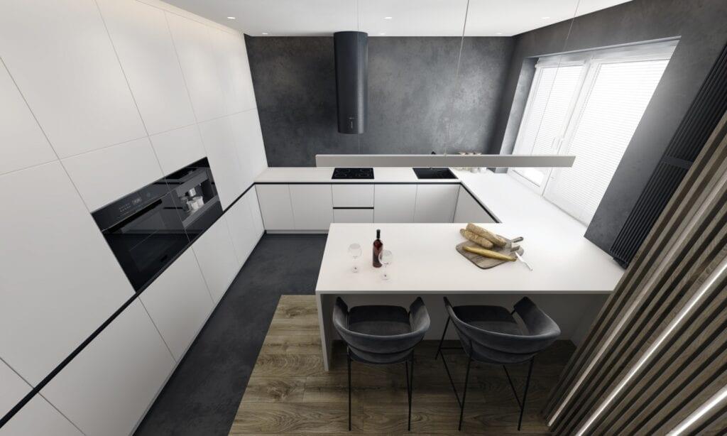 O.S.A design i luksusowy apartament w monochromatycznej odsłonie