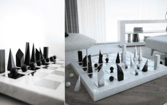 Szachy minimalisty – projekt dla fanów serialu Gambit Królowej