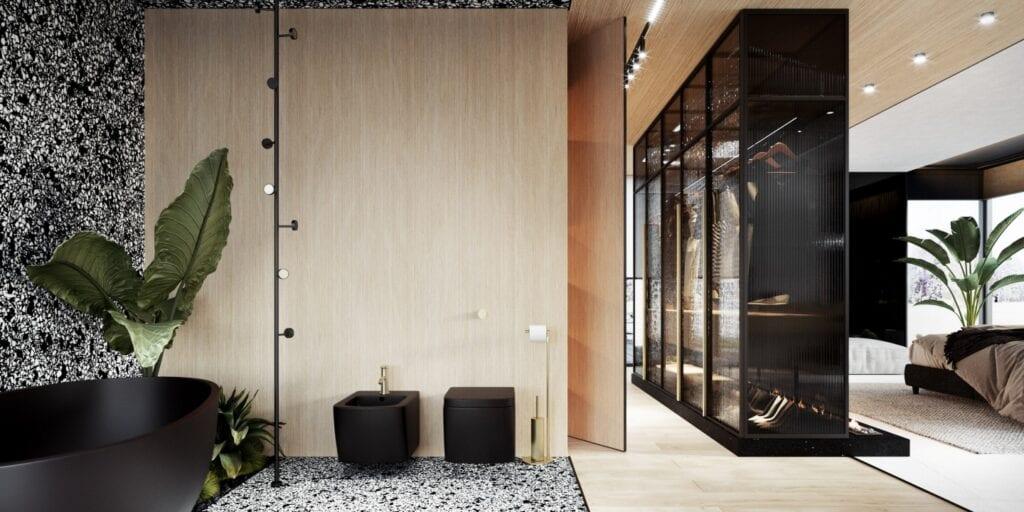 Wnętrza domu na Kaszubach projektu pracowni modeko.studio