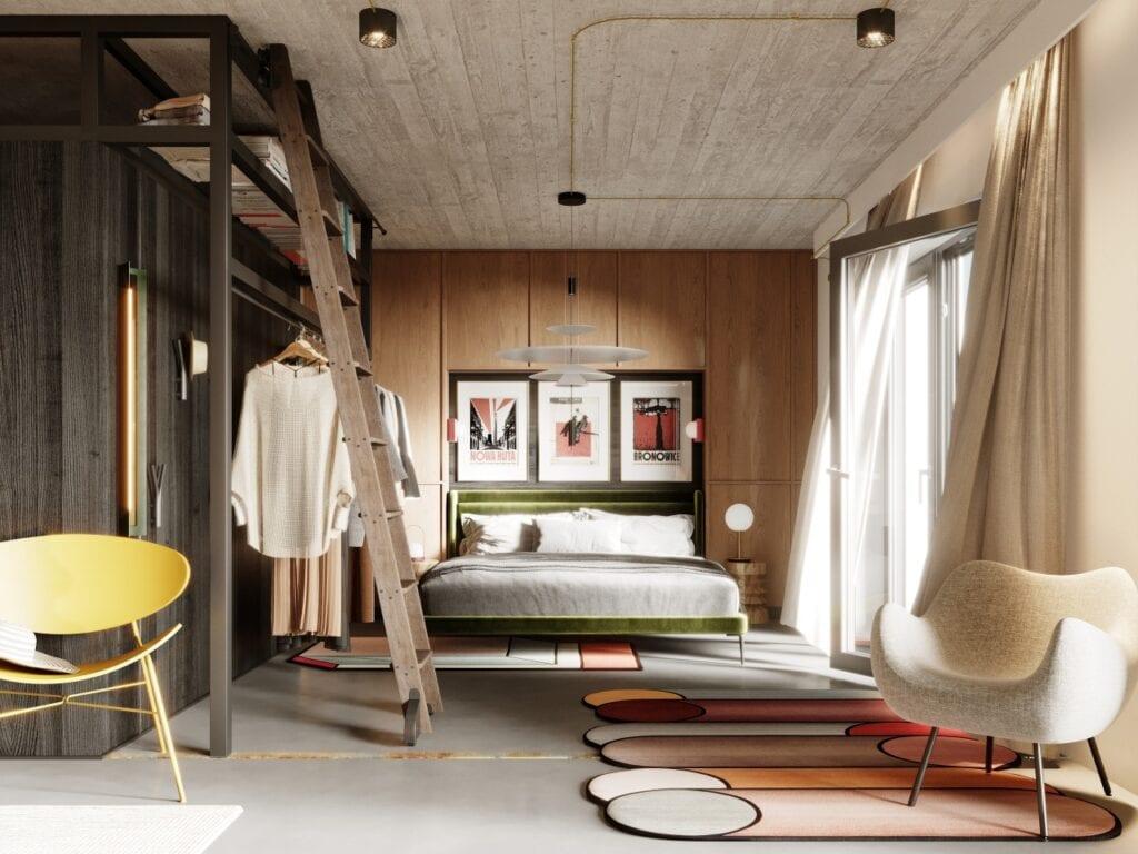 Amadeusz Bożemski i modernistyczny loft z nutą prostoty japońskiej