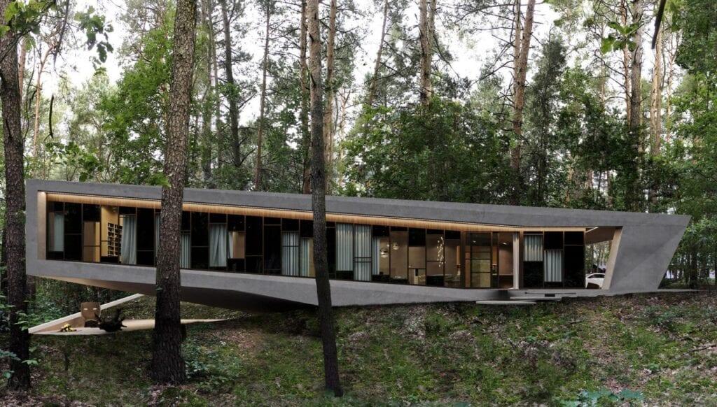 Futurystyczne bryły domów projektu REFORM Architekt - RE: JOSHUA TREE HOUSE