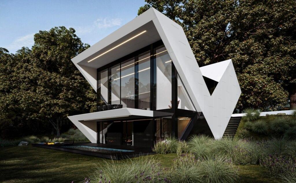 Futurystyczne bryły domów projektu REFORM Architekt - RE: VMAX HOUSE