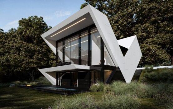 Futurystyczne bryły domów projektu REFORM Architekt