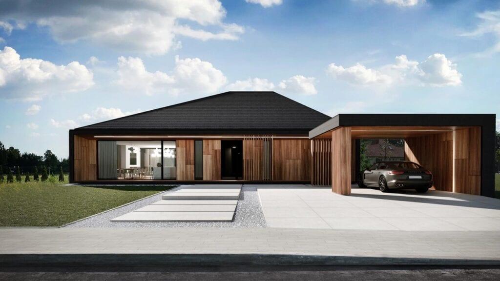 Futurystyczne bryły domów projektu REFORM Architekt - RE: VOLCANO HOUSE
