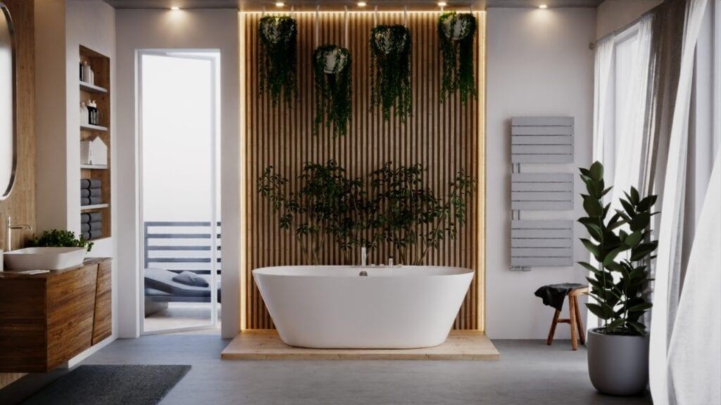 Pantone w Twoim domu - kolorystyczny kierunek wnętrzarski 2021 - szary grzejnik Luxrad w łazience