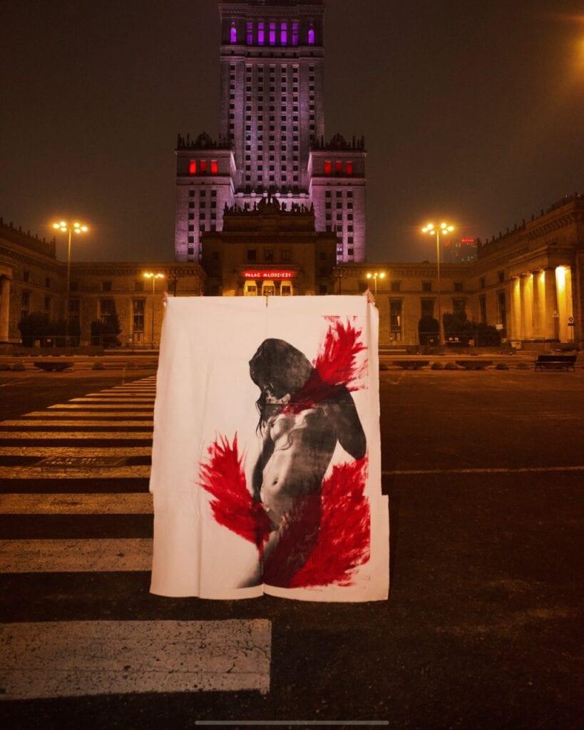 Projekt artystyczny Carmen Agnieszki Pestki - Kwiaciarnia ,,Kwiaty u Bożeny'' w Warszawie