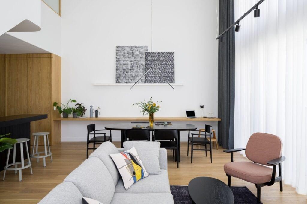 Apartament z widokiem na centrum Łodzi projektu 3XEL Architekci