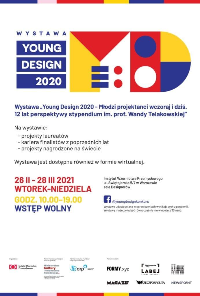 """Wystawa """"Young Design 2020 - Młodzi projektanci wczoraj i dziś"""""""