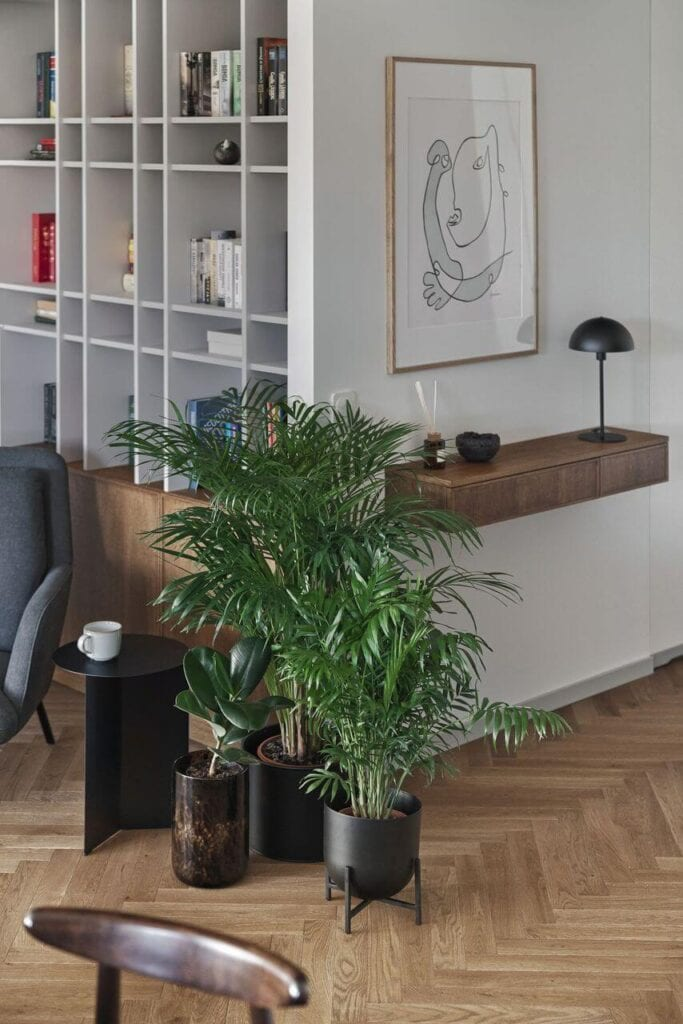 66-metrowe mieszkanie przy Parku Oliwskim w Gdańsku projektu Raca Architekci