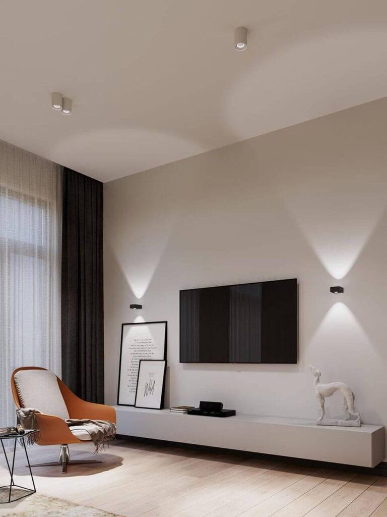 Jak oświetlić salon? Aranżacje korzystne dla wzroku od AQForm - GOLO