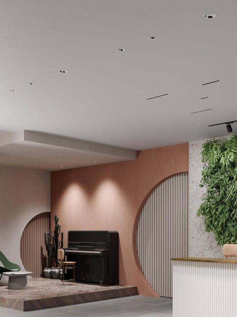 Jak oświetlić salon? Aranżacje korzystne dla wzroku od AQForm - MORE
