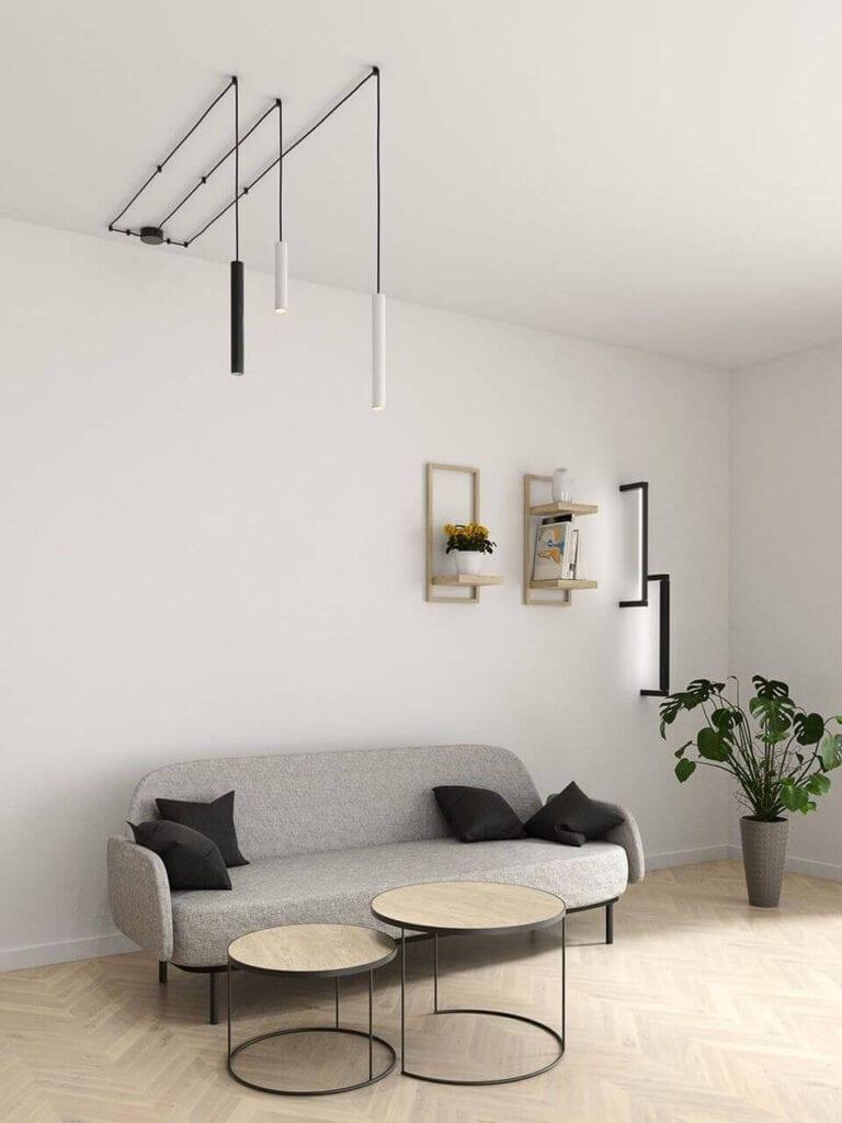 Jak oświetlić salon? Aranżacje korzystne dla wzroku od AQForm - PET