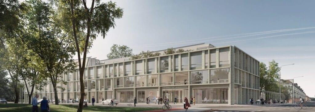 Koncepcja nowego budynku Nauk Społecznych dla Uniwersytetu Warszawskiego - projekt Kuryłowicz & Associates