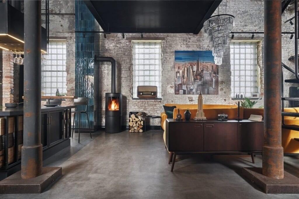 Mieszkanie w stylu loft - projekt Sikora Wnętrza