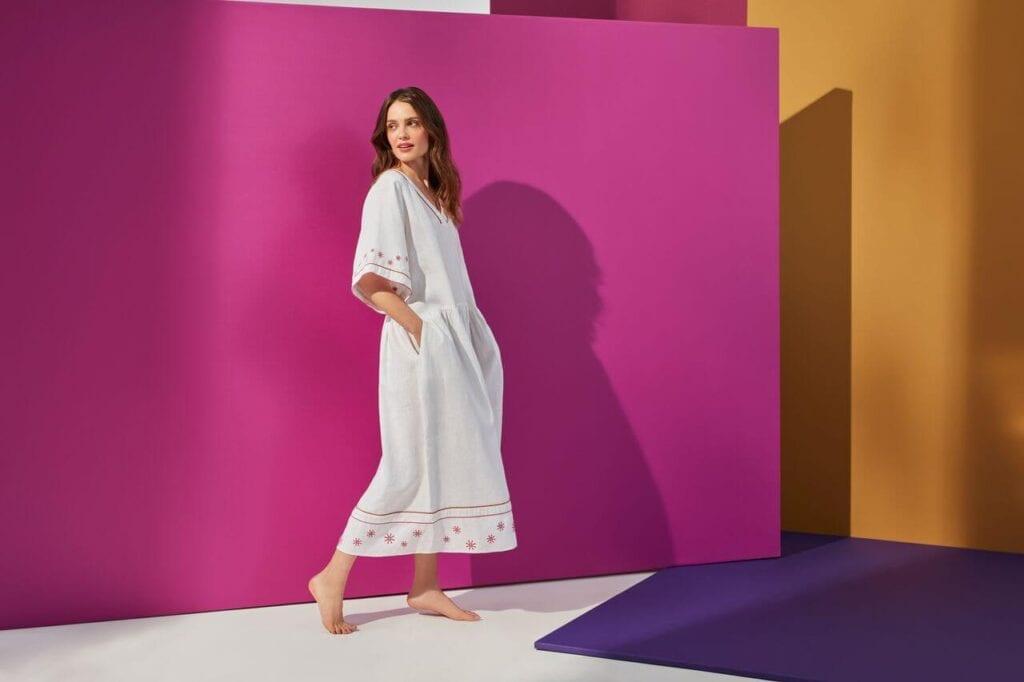 NeoFolk - Dorota Koziara x TATUUM i kolekcja inspirowana polską tradycją - sukienka TEKLA