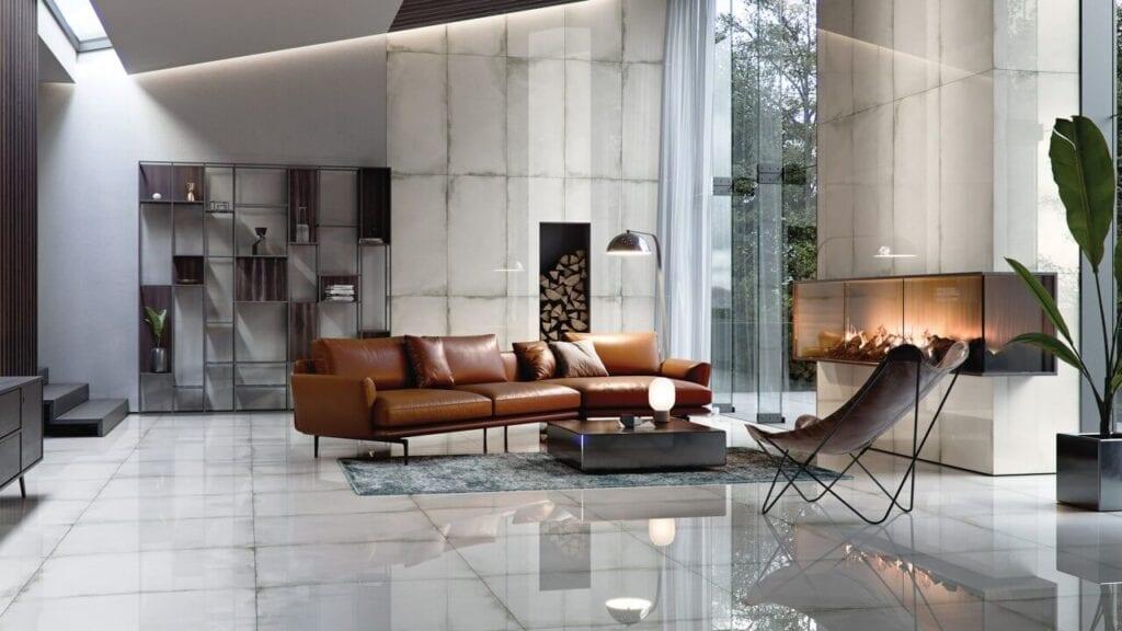 Seria Grand Concept - wielkoformatowe gresy Opoczno - Night Shade