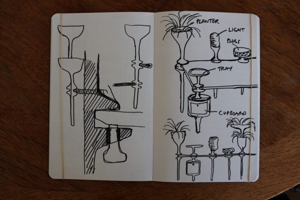 Thomas Heatherwick i projekt Stem - krok w nowym kierunku - sketch by Heatherwick Studio