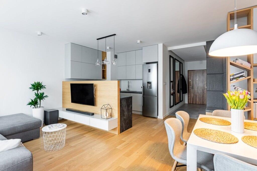 72-metrowe mieszkanie we Włochach projektu pracowni Modify - foto Michał Młynarczyk