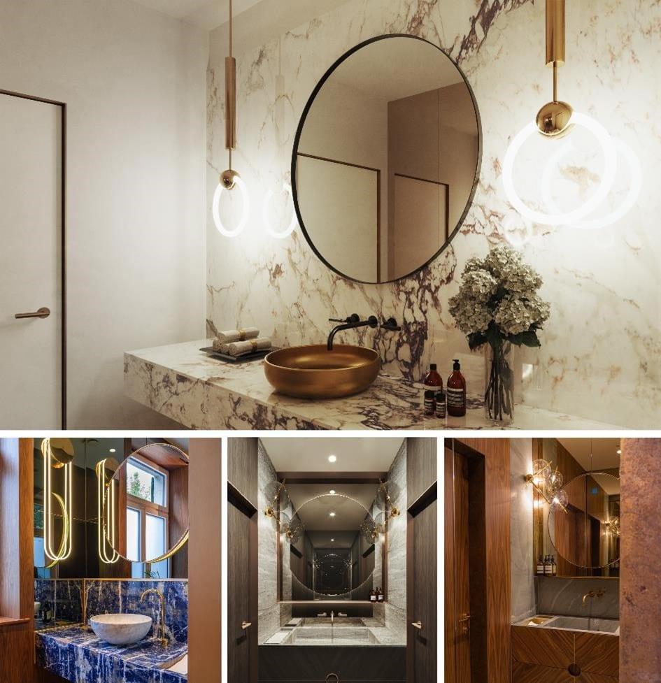 Łazienka nawiązująca do przeszłości miejsca jako budynku mieszkalnego