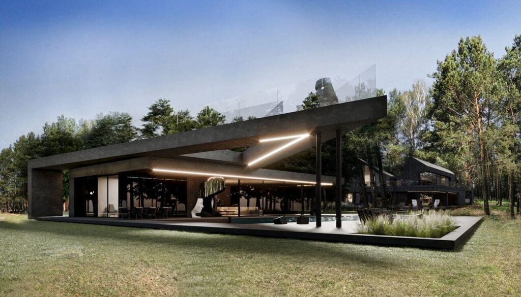 Domek gościny przy RE: REDWOOD HOUSE - REFORM Architekt - Marcin Tomaszewski