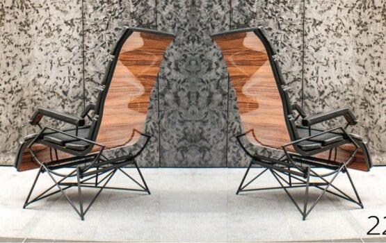Fotel bujany EFFORTLES projektu 22pm Studio Design