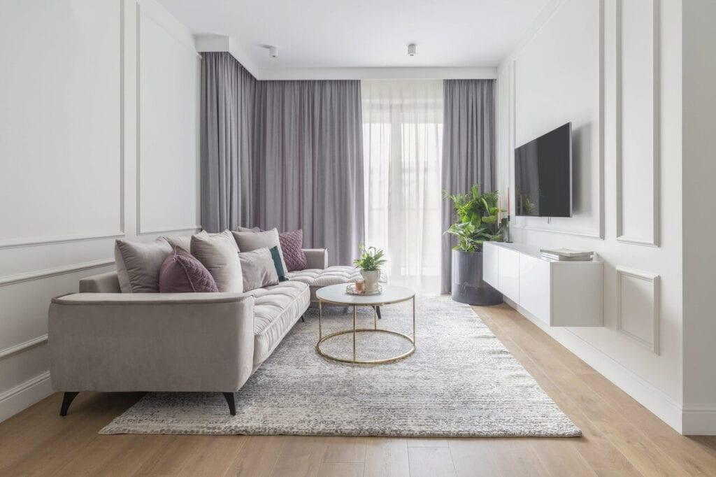 Jasne mieszkanie na Wilanowie projektu Naboo Studio - foto PION POZIOM