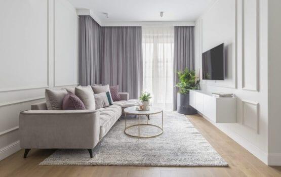 Jasne mieszkanie na Wilanowie projektu Naboo Studio