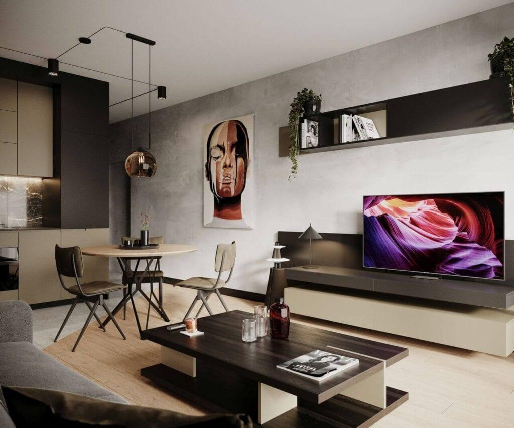 Projekt mieszkania na warszawskim Artystycznym Żoliborzu od _slab_