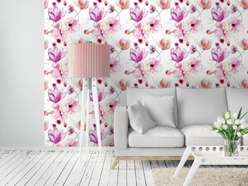 Tapety i fototapety - wyjątkowe dekoracje ścienne od Bimago - Akwarelowe kwiaty