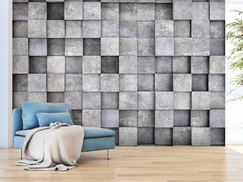 Tapety i fototapety - wyjątkowe dekoracje ścienne od Bimago - Betonowy sześcian